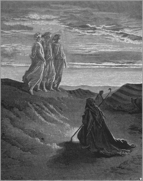 Abraham et les anges Gustave Dorè